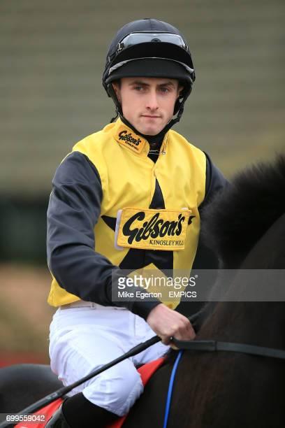 Jockey Charlie Bennett on Pivotal Dream prior to the 32Redcom Handicap