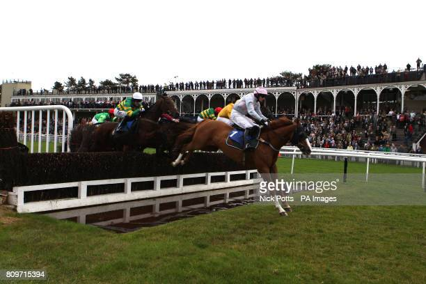 Jockey Charlie Wallis on Bold Perk on the way to winning the Betfair iPhone And Android App Handicap Chase