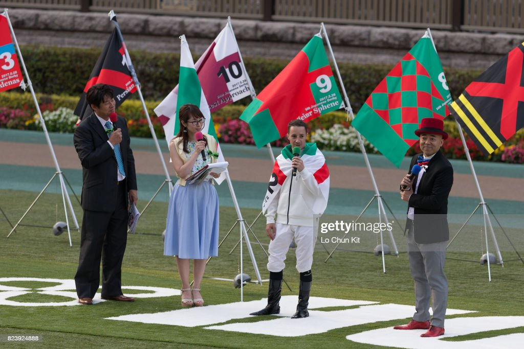 Jockey Christophe Lemaire attends the talk show after Rey de Oro winning the Tokyo Yushun - Japanese Derby (G1 2400m) at Tokyo Racecourse on May 28, 2017. Tokyo Yushun Japanese Derby, is the second leg of Japan's Triple Crown.
