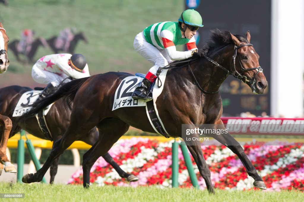 Jockey Christophe Lemaire riding Rey de Oro wins the Tokyo Yushun - Japanese Derby (G1 2400m) at Tokyo Racecourse on May 28, 2017.