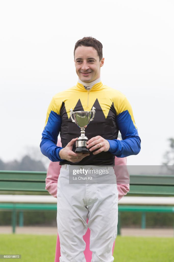 Jockey Christophe Lemaire wins the Race 10 Kazusa Stakes at Nakayama Racecourse on March 6, 2016 in Funabashi, Chiba, Japan.