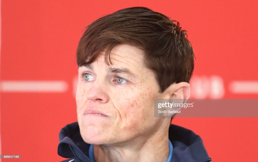 Jockey Craig Williams speaks during the AAMI Victoria Derby Day media conference at Flemington Racecourse on November 3, 2017 in Melbourne, Australia.