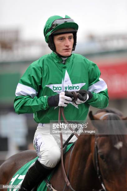 Jockey Daryl Jacob on The Italian Yob during The Paddy Power Imperial Cup Day at Sandown