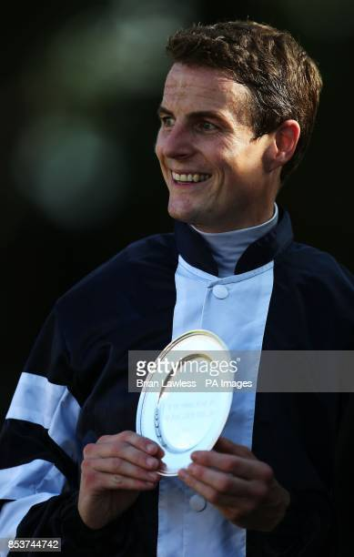 Jockey Fran Berry in the parade ring after winning the Jockey Club Of Turkey Silver Flash Stakes aboard Jack Naylor at Leopardstown Racecourse Dublin