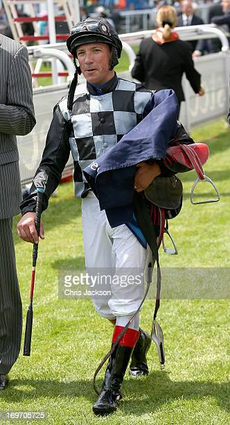 Jockey Frankie Dettori attends Ladies Day at the Derby Festival at Epsom Racecourse on May 31 2013 in Epsom England