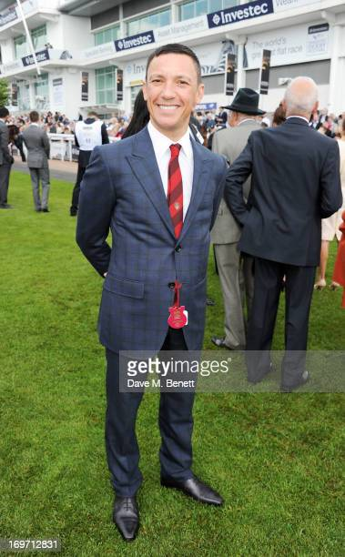 Jockey Frankie Dettori attends Ladies Day at the Investec Derby Festival at Epsom Racecourse on May 31 2013 in Epsom England