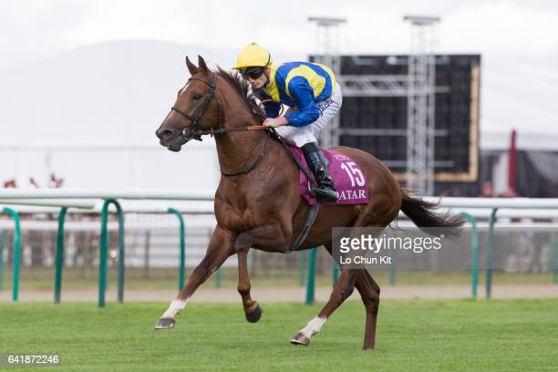 Jockey Frederik Tylicki riding Savoir Vivre during the Race 4 Prix de l'Arc de Triomphe at Chantilly Racecourse on October 2 2016 in Chantilly France