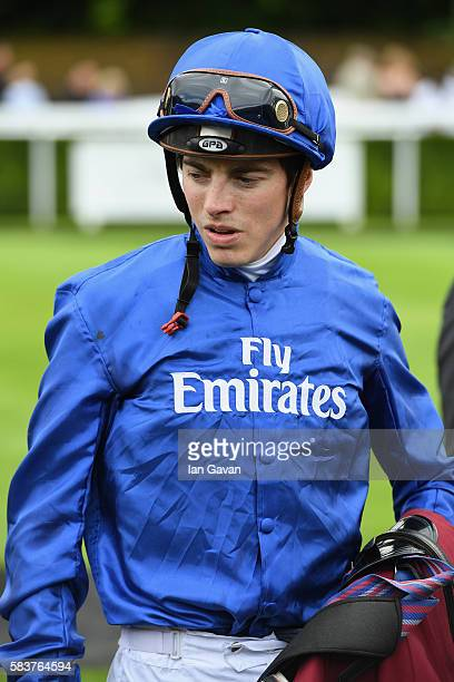 Jockey James Doyle rides Ribchester at the Sussex Stakes £1 million race at the Qatar Goodwood Festival 2016 at Goodwood on July 27 2016 in...