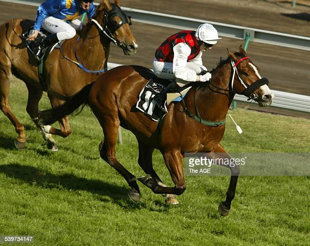 Jockey Jay Ford on Takeover Target during the Spring Racing Carnival at Flemington Racecourse 30 October 2004 THE AGE Picture by JOE ARMAO