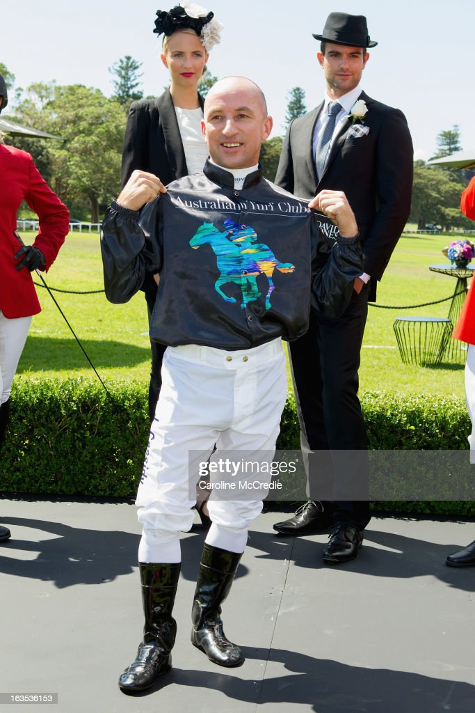 Jockey Jim Cassidy at the BMW Sydney Carnival launch at Centennial Park on March 12, 2013 in Sydney, Australia.
