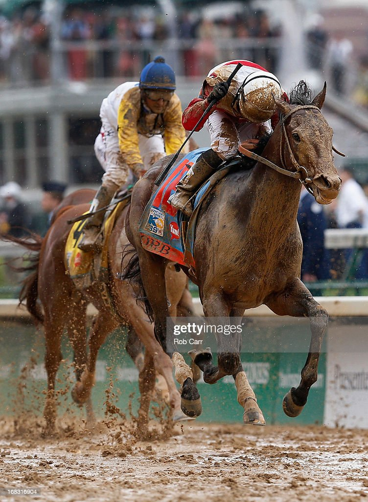 Jockey <a gi-track='captionPersonalityLinkClicked' href=/galleries/search?phrase=Joel+Rosario&family=editorial&specificpeople=6495860 ng-click='$event.stopPropagation()'>Joel Rosario</a> guides Orb to the finish line to win the 139th running of the Kentucky Derby at Churchill Downs on May 4, 2013 in Louisville, Kentucky.