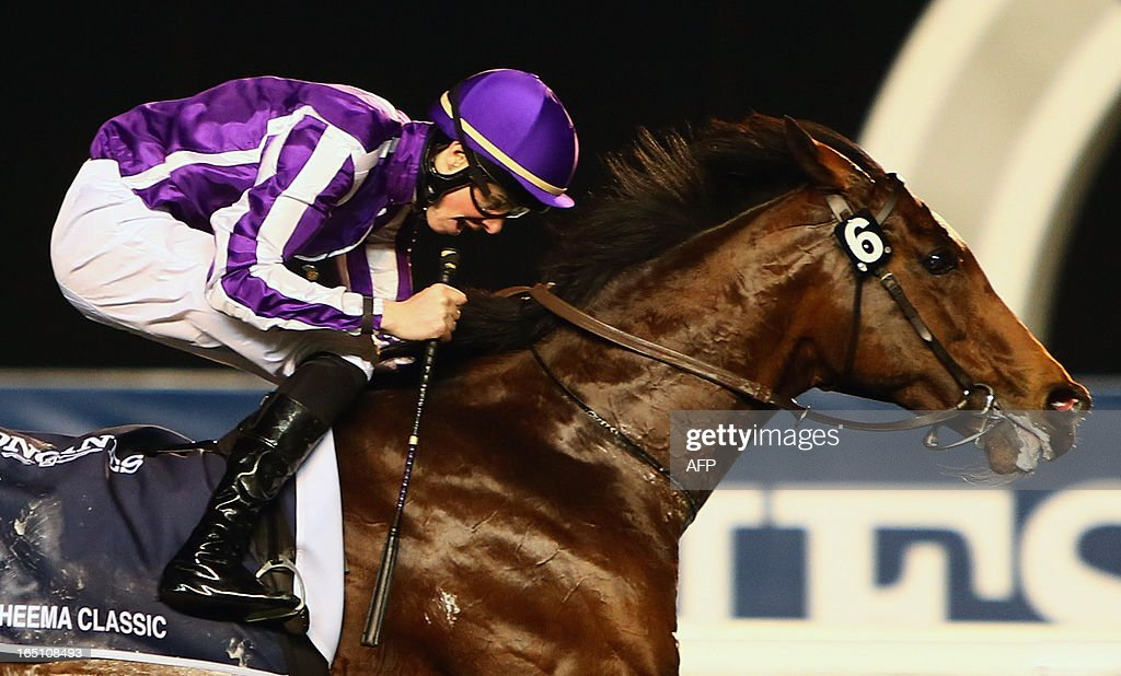 Jockey Joseph O'Brien leads St. Nicholas Abbey to win the Dubai Sheema Classic part of the Dubai World Cup meet, the world's richest race, at Meydan race track in Dubai on March 30, 2013.