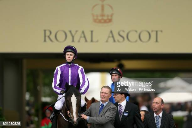 Jockey Joseph O'Brien on board Stubbs before the Coventry Stakes