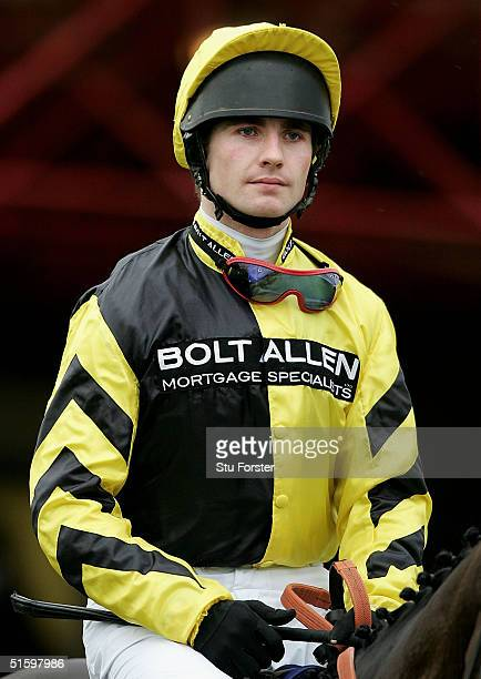 Jockey JP McNamara at Cheltenham racecourse October 27 2004 in Cheltenham England