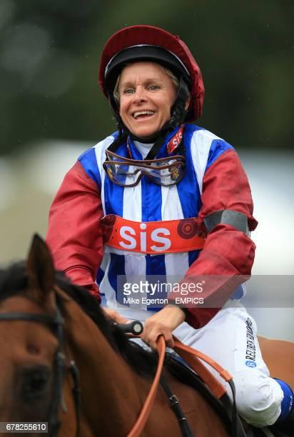 Jockey Julie Krone in The Clipper Logistics Leger Legends Classified Stakes
