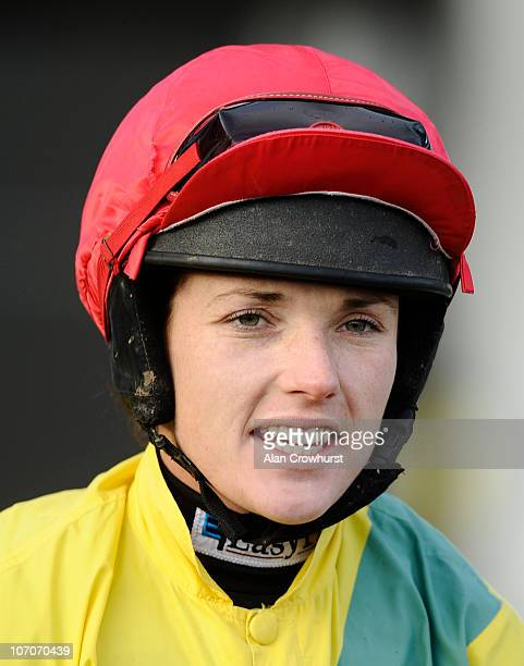 Jockey Katie Walsh at Aintree racecourse on November 21 2010 in Liverpool England