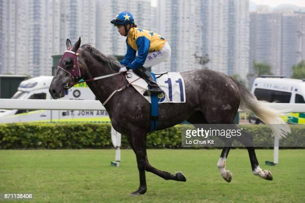 Jockey Kei Chiong Kakei riding Basic Trilogy during Race 8 The Sa Sa Ladies' Purse at Sha Tin racecourse on November 6 2016 in Hong Kong Hong Kong