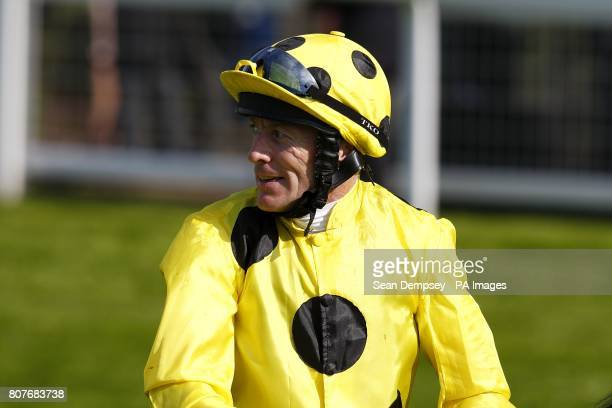 Jockey Kieren Fallon after winning the Hampton Court Stakes on Afsare during Ladies day at Royal Ascot