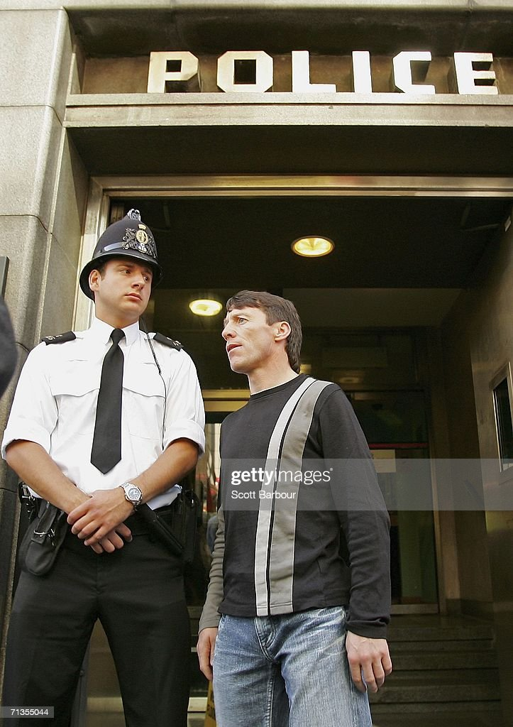 Jockey Kieren Fallon leaves Bishopsgate police station on July 3 2006 in London England Fallon was one of 28 people who had to appear at the station...
