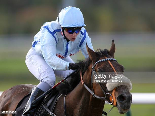 Jockey Kirsty Milczarek on Silk Hall during the Bet Totepool On All UK Racing Handicap