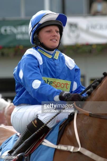 Jockey Leanne Kershaw at Beverley racecourse
