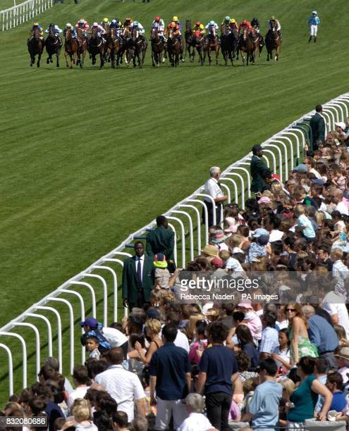 Jockey Luke Morris is left behind after his horse Matsunosuke unseated him at Ascot racecourse