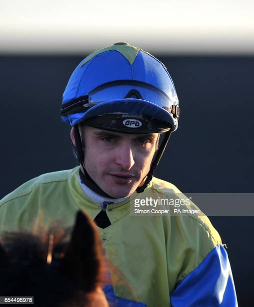 Jockey Mark Coumbe at Southwell Racecourse