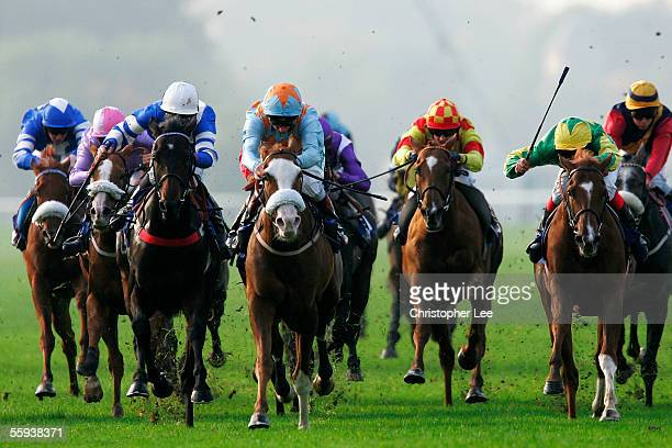 Jockey Martin Dwyer riding Kingsholm in The Prime Personnel Handicap Stakes at Royal Windsor Race Course on October 17 2005 in Windsor England