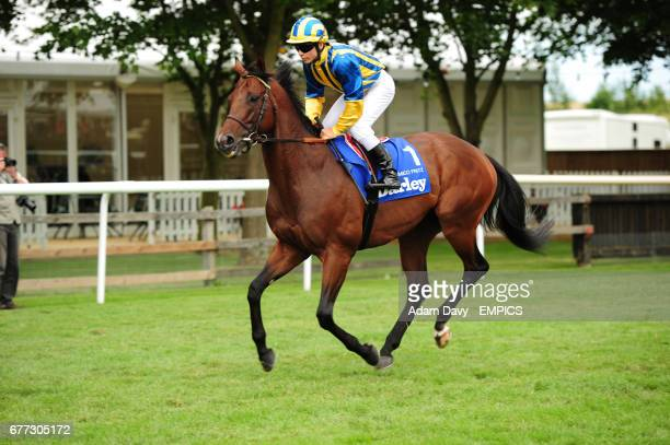 Jockey Maxime Guyon on Amico Fritz prior to the Darley July Cup
