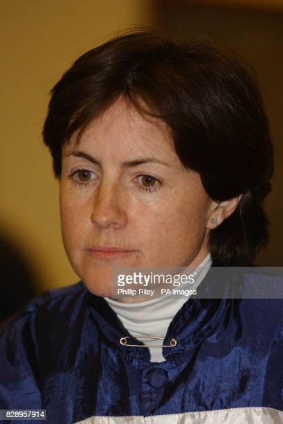 Jockey Mrs Kim Tinkler at Wolverhampton races