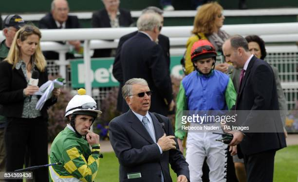 Jockey Neil Callan bites his nails before the start of The bet365 Gordon Richards Stakes during the bet365 Gold Cup Meeting at Sandown Racecourse...