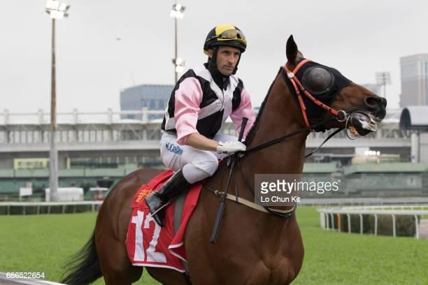 Jockey Neil Callan riding Same Beauty during Macau Derby at Taipa Racecourse on May 20 2017 in Macau Macau
