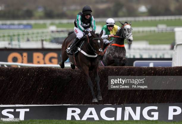 Jockey Nico De Boinville on board Altior wins the 1410 Racing Post Arkle Challenge Trophy Novices' Chase during Champion Day of the 2017 Cheltenham...