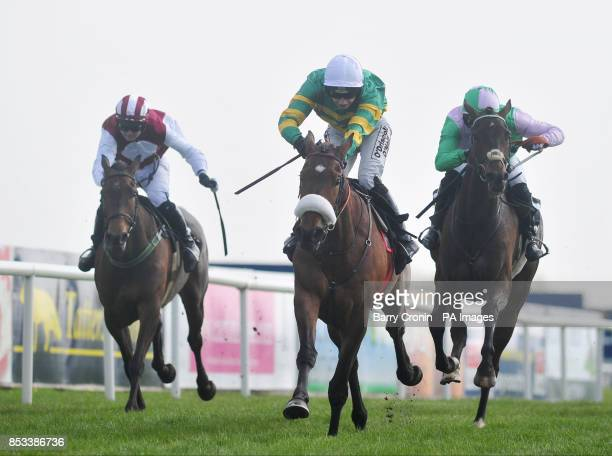Jockey Nina Carberry and Free Expression on their way to victory in the Racing Post Champion PointtoPoint Flat Race during Irish Grand National Day...