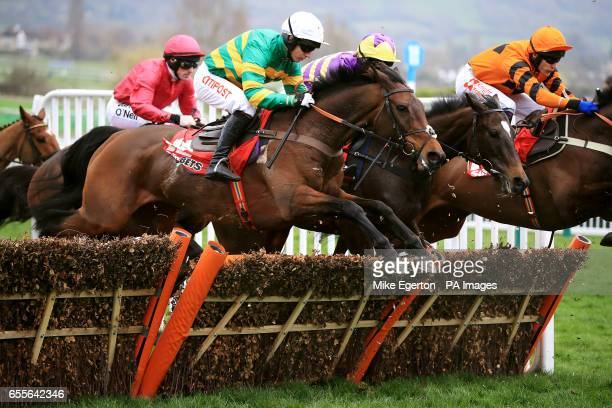 Jockey Noel Fehily on UnowhatImeanHarry during the Sun Bets Stayers' Hurdle