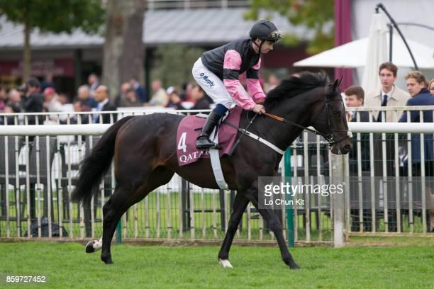 Jockey Oisin Murphy riding Aclaim during the Race 7 Qatar Prix de la Foret during the Qatar Prix de l'Arc de Triomphe Race Day at Chantilly...