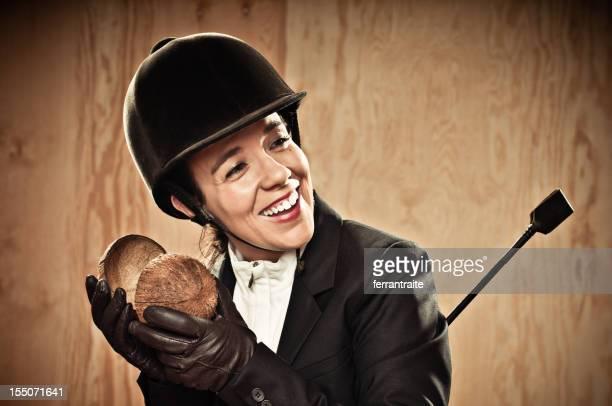 Jockey playing the coconut