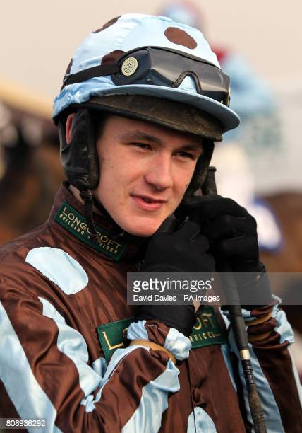 Jockey Rhys Flint prior to his victory on Arthur's Pass in Bet Live At corbettsportscom National Hunt Novices Hurdle at Ludlow Racecourse