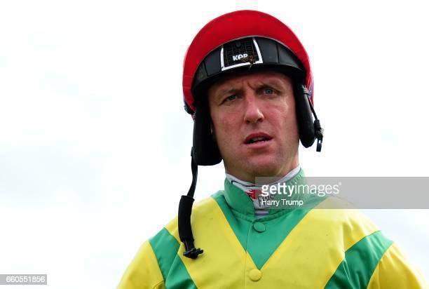 Jockey Robbie Power at Taunton Racecourse on March 30 2017 in Taunton England
