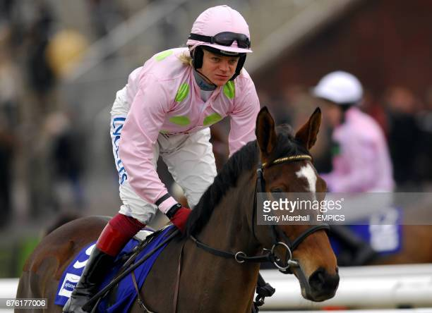 Jockey Robert Thornton on Pomme Tiepy prior to The Neptune Investment Management Steeple Chase