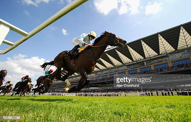 Jockey Ryan Moore riding Arab Spring wins the Duke of Edinburgh Stakes during day five of Royal Ascot at Ascot Racecourse on June 21 2014 in Ascot...