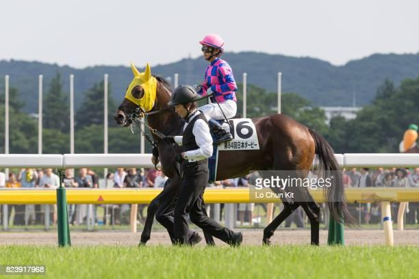 Jockey Ryo Takakura riding Kyohei during the Tokyo Yushun at Tokyo Racecourse on May 28 2017 in Tokyo Japan Tokyo Yushun Japanese Derby is the second...