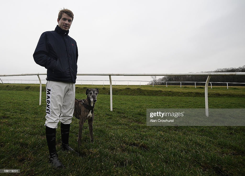 Jockey <a gi-track='captionPersonalityLinkClicked' href=/galleries/search?phrase=Sam+Thomas+-+Jockey&family=editorial&specificpeople=15316251 ng-click='$event.stopPropagation()'>Sam Thomas</a> with Spider at Chepstow racecourse on January 08, 2013 in Chepstow, Wales.