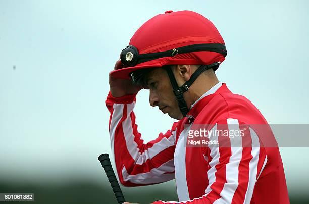 Jockey Silvestre De Sousa at Doncaster Racecourse on September 9 2016 in Doncaster England