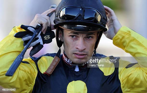 Jockey Silvestre De Sousa at Salisbury Racecourse on October 12 2015 in Salisbury England