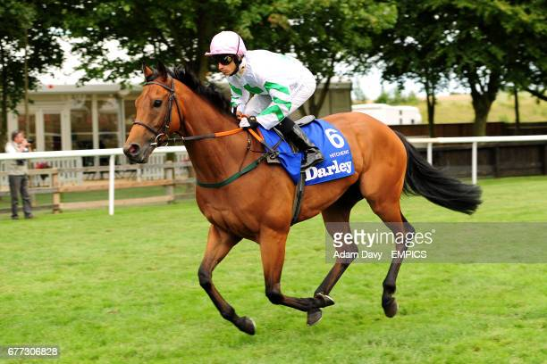 Jockey Silvestre De Sousa on Hitchens prior to the Darley July Cup