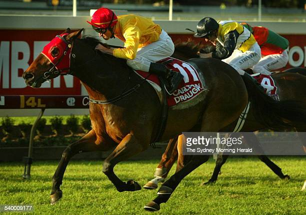 Jockey Steven Arnold on Undue winner of Race 7 Carlton Draught Doomben 10000 at Doomben Turf Club in Brisbane 27 May 2006 SMH Picture by PAUL HARRIS