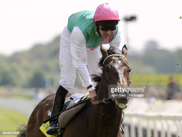Jockey Ted Duncan Rides Twice Girl during the Totesportcom Dante Stakes York