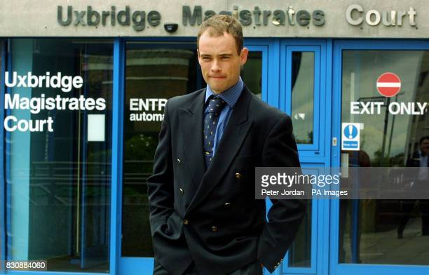 Jockey Timmy Murphy outside Uxbridge Magisrates Court after he was committed to Isleworth Crown Court on charges of indecent assault and being drunk...