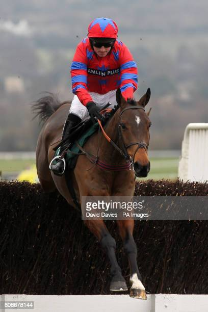 Jockey Tom O'Brien on Balthazar King jumps during the DRS Contracts Novices' Chase